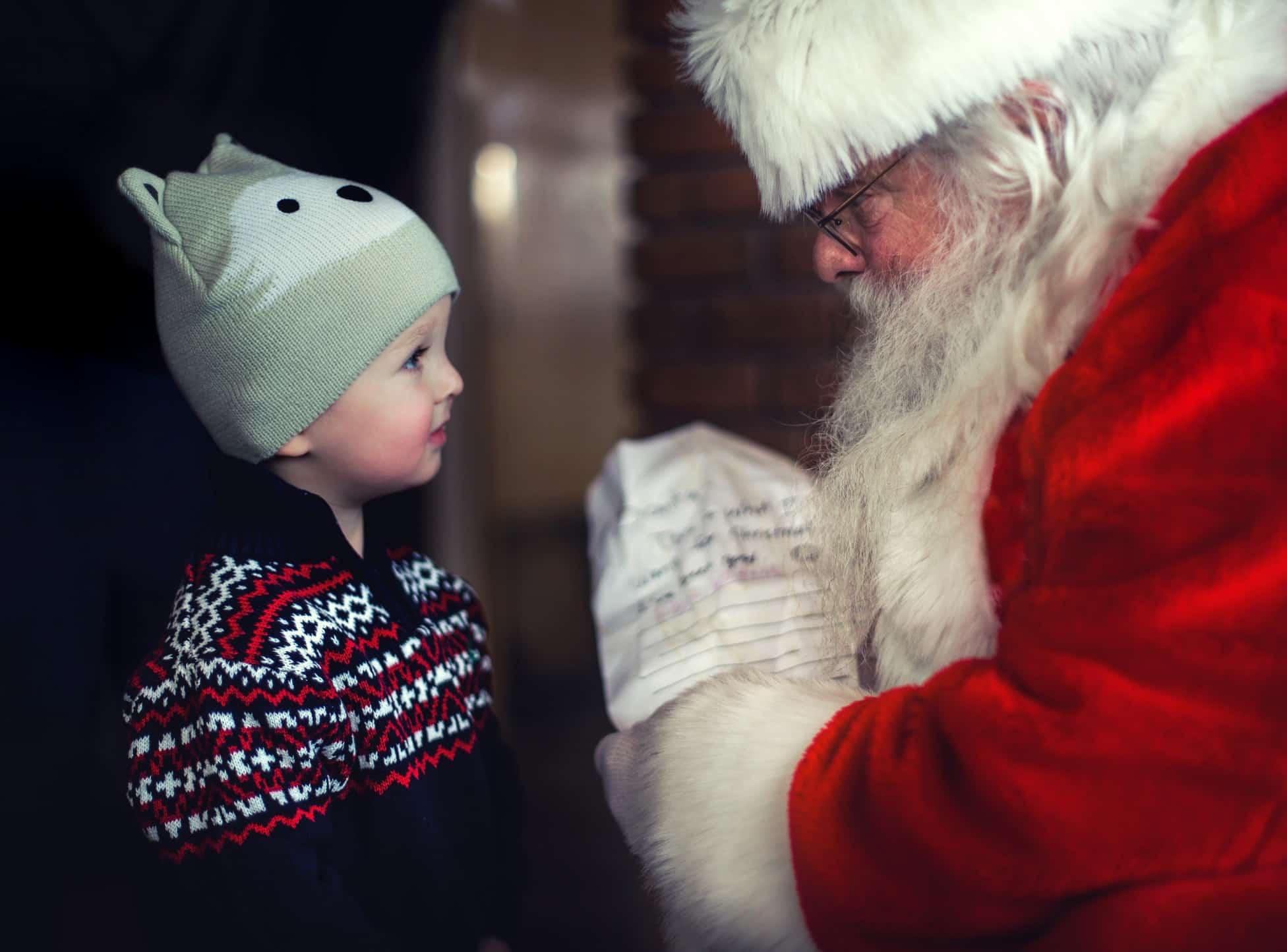 santa and child