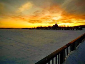 Lapland - church - twilight