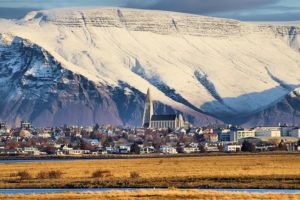 Reykjavik - Iceland - city - church - Mountains
