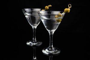 Martini - glasses - olives